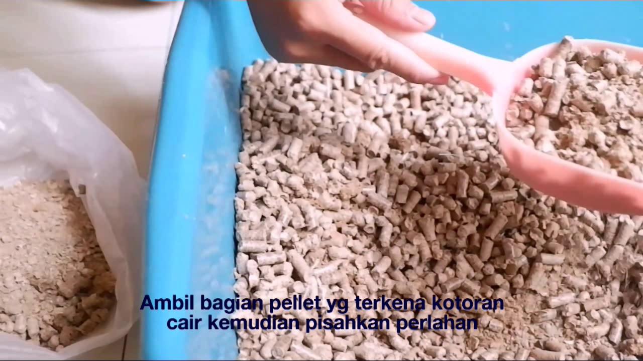 Pemakaian wood pellet bekas hewan peliharaan untuk menyuburkan tanaman