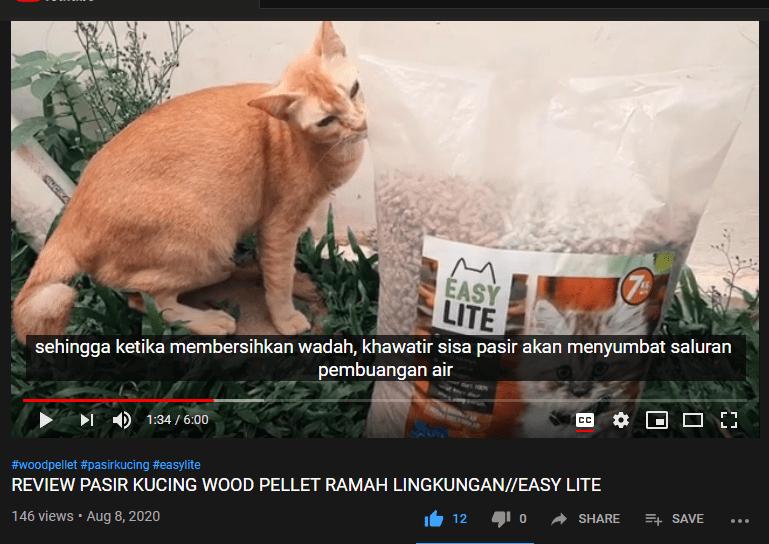 REVIEW PASIR KUCING WOOD PELLET RAMAH LINGKUNGAN//EASY LITE oleh LEN FAMILY
